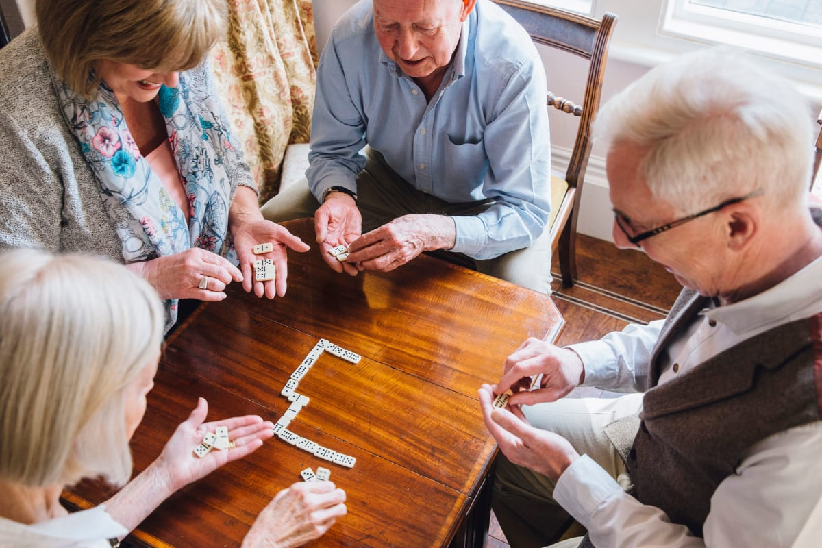Residents enjoying a game at Sandpiper Senior Living in Mt. Pleasant, South Carolina