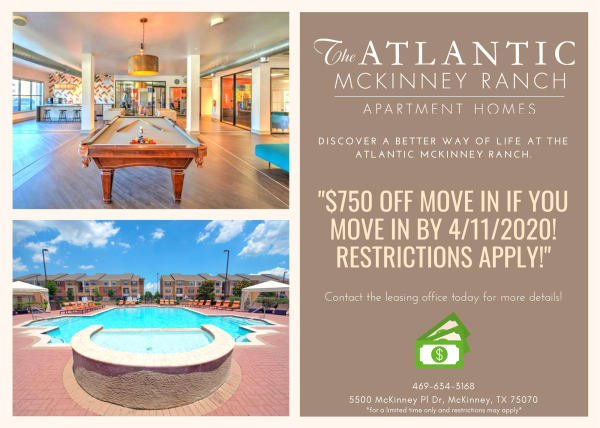 special at The Atlantic McKinney Ranch