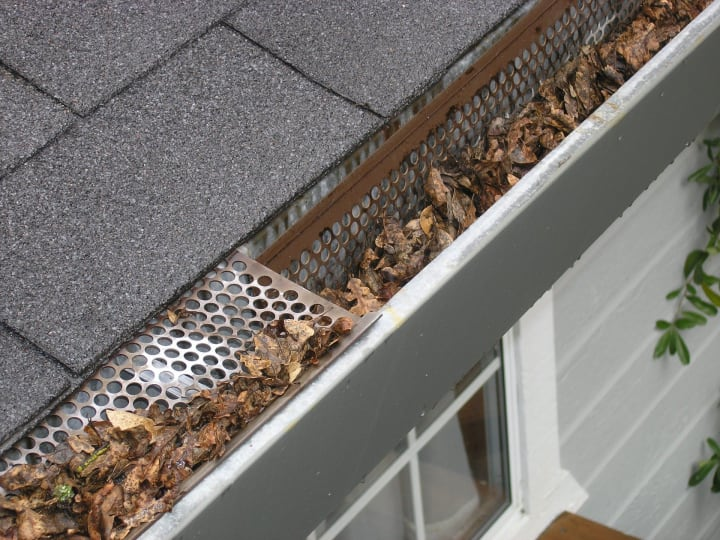 remove debris from gutters