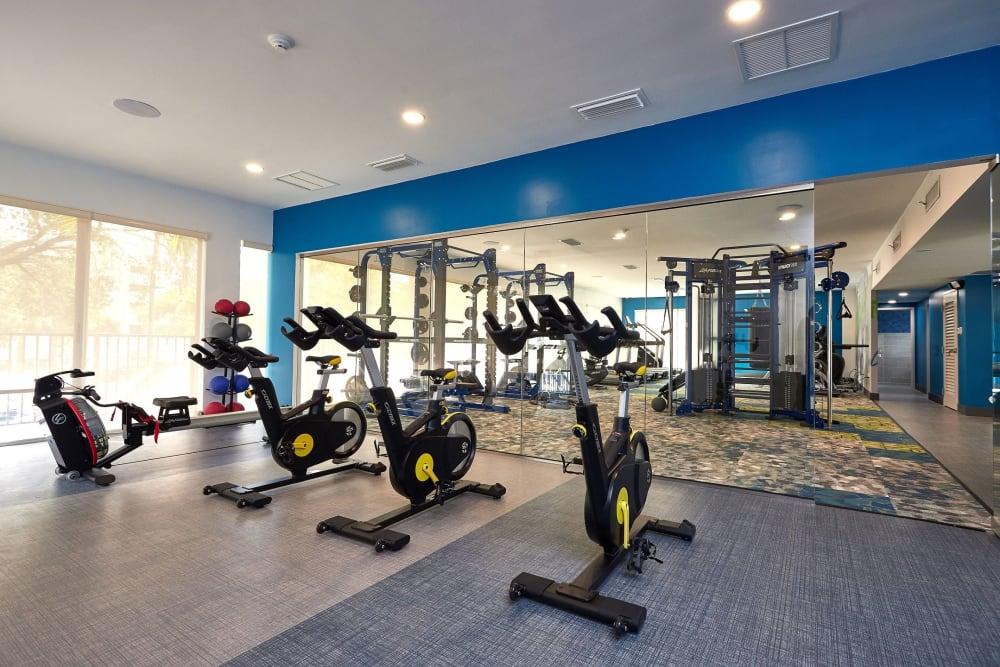 Fitness center at Aliro in North Miami Beach, Florida
