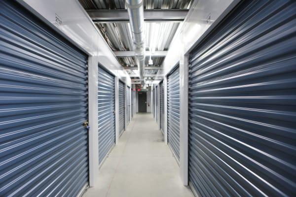 Indoor storage units at Midgard Self Storage in Midland, North Carolina