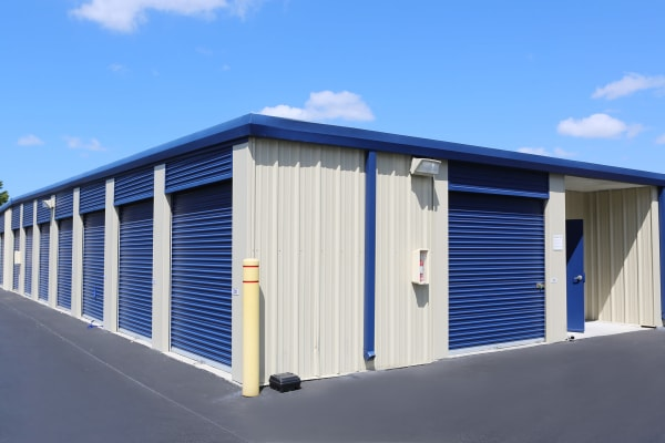 Outdoor storage units at Midgard Self Storage in Statesboro, Georgia