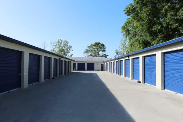 Indoor storage units at Midgard Self Storage in Tanner, Alabama