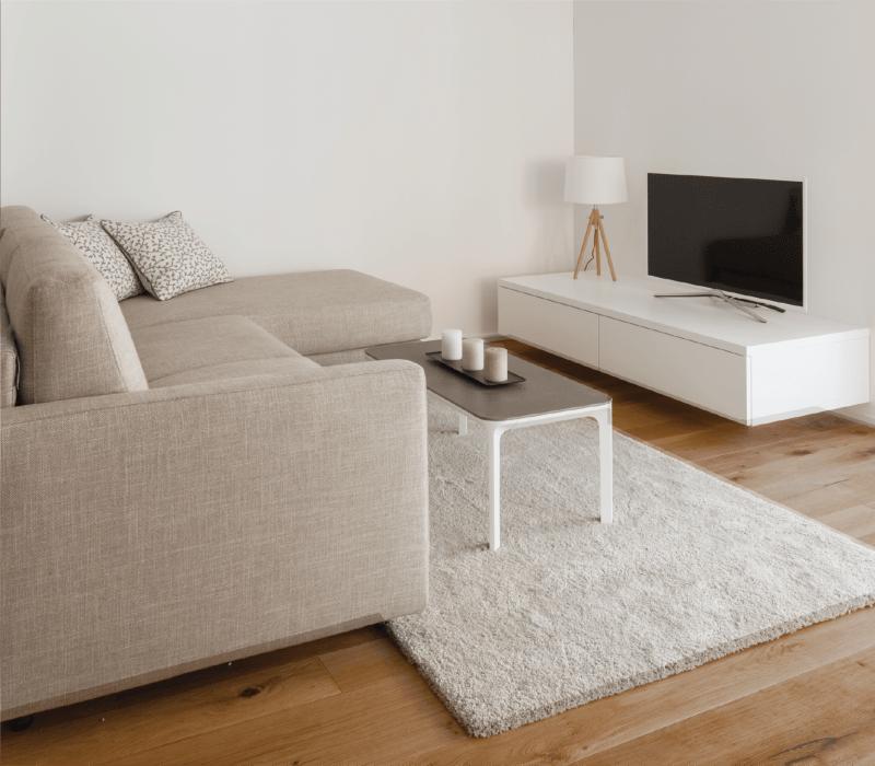 Model living room at Park Hacienda Apartments in Pleasanton, California