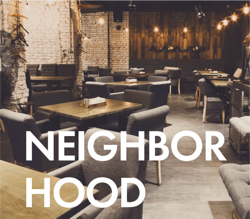Neighborhood callout at Fashion Terrace in San Diego, California