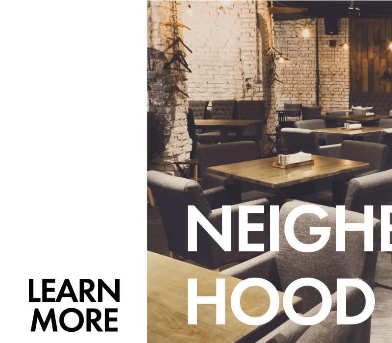 Neighborhood learn more callout at Irving Schoolhouse Apartments in Salt Lake City, Utah