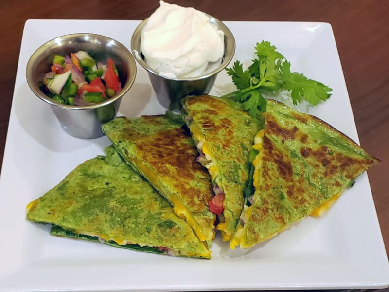 Spinach Quesadillas at The Pointe at Summit Hills in Bakersfield, California