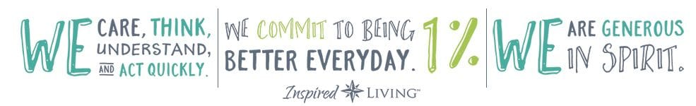 slogan graphic for Inspired Living in Lewisville, Texas.