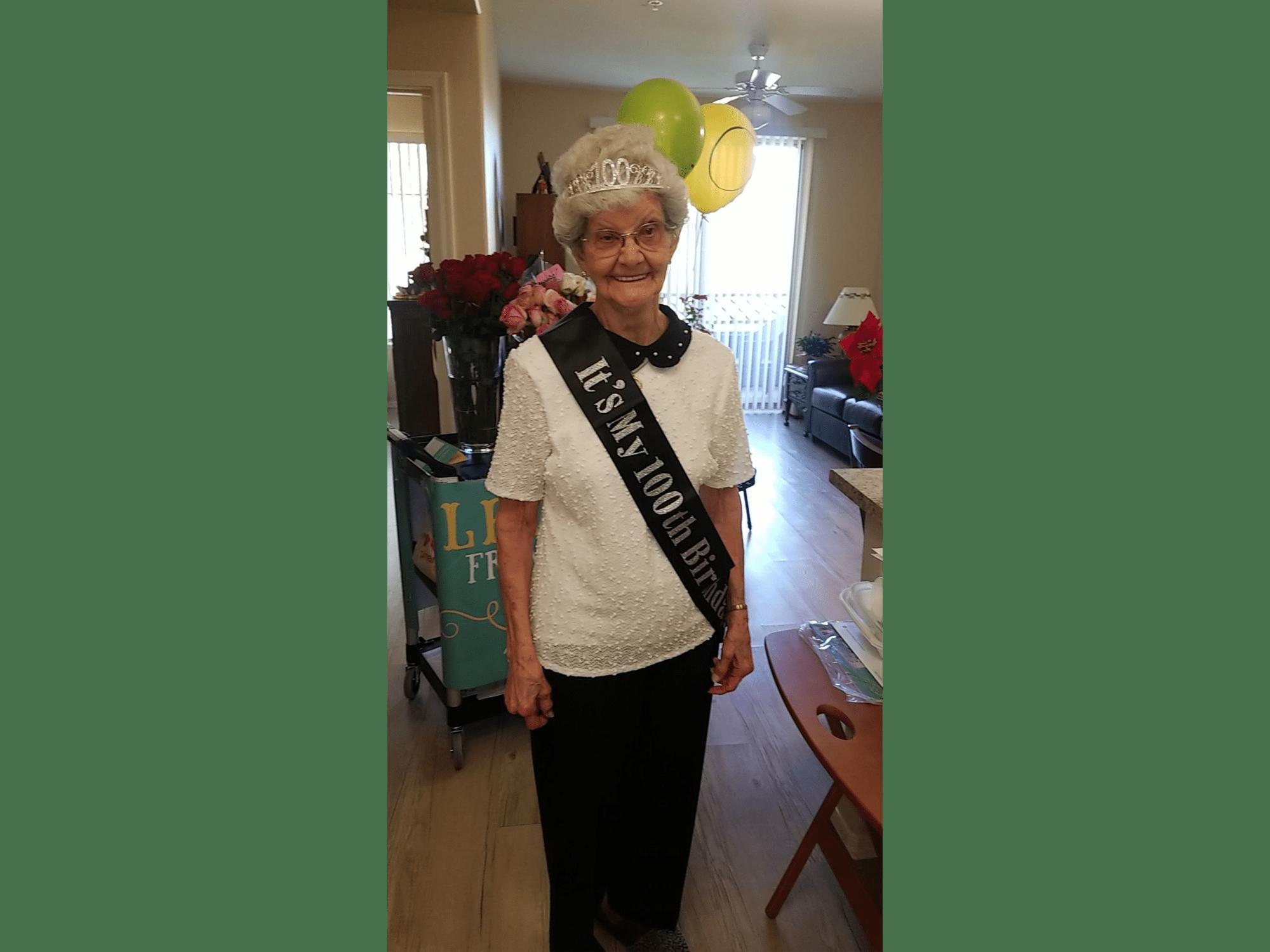 A resident's birthday at McDowell Village in Scottsdale, Arizona