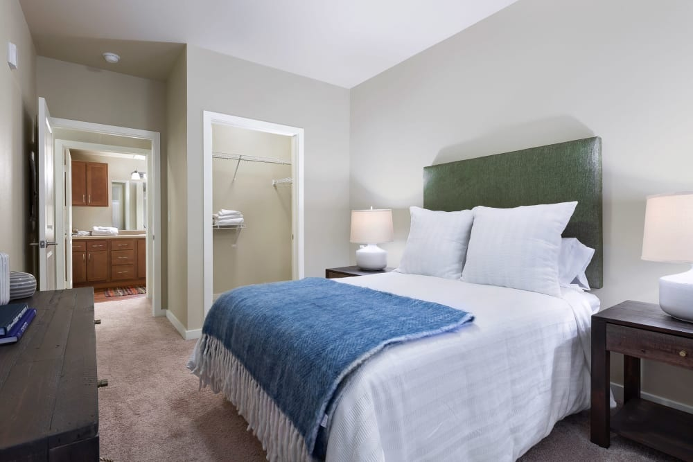 Bedroom with walk-in closet at Affinity at Southpark Meadows