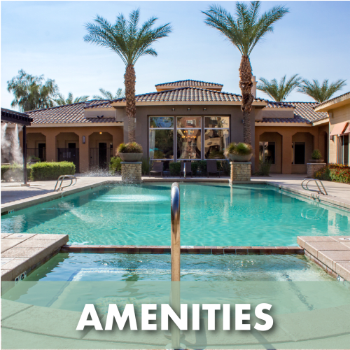 Link to amenities at The Residences at Stadium Village in Surprise, Arizona