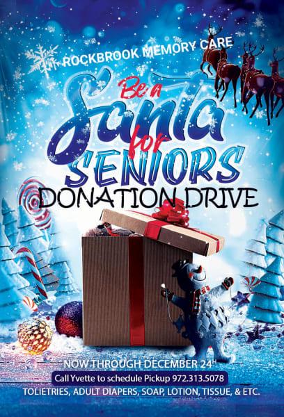 Santa for Seniors Donation Drive Flyer