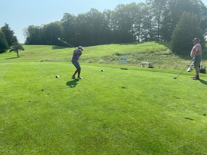 Golf swing at the Tee Off For Hospice