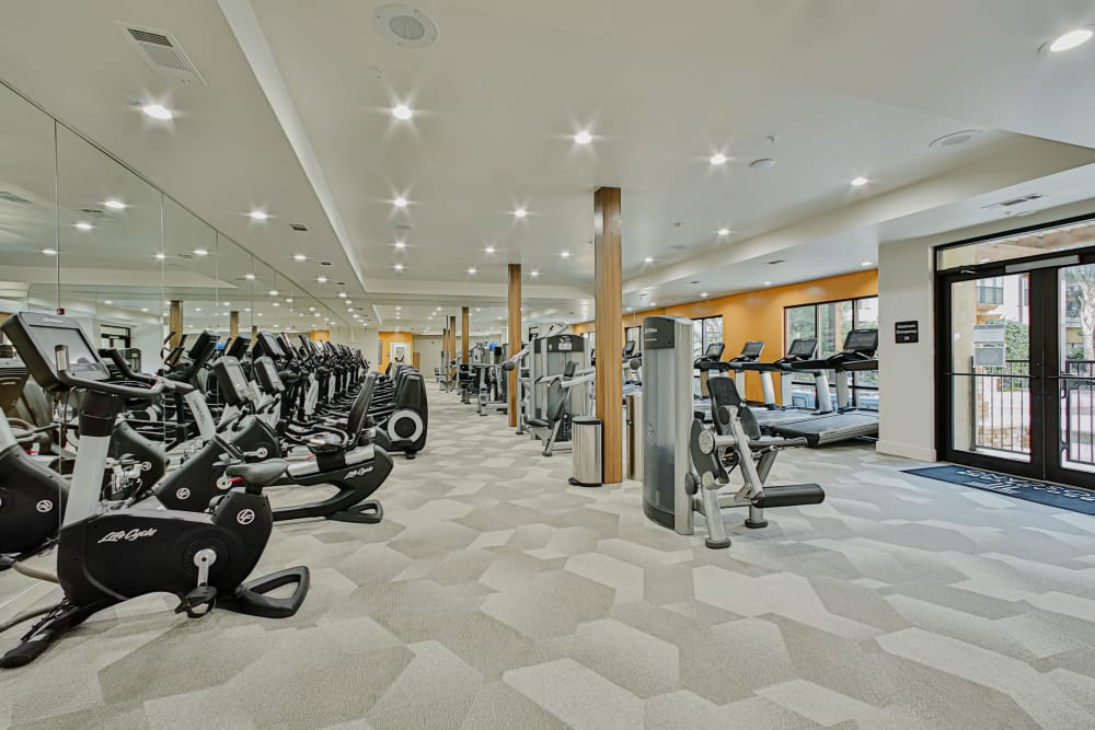 Exercise bikes at Broadstone Toscano in Houston, Texas