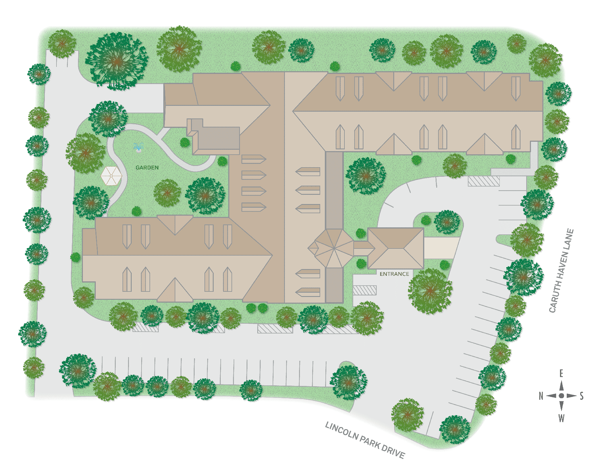 Caruth Haven Court Sitemap