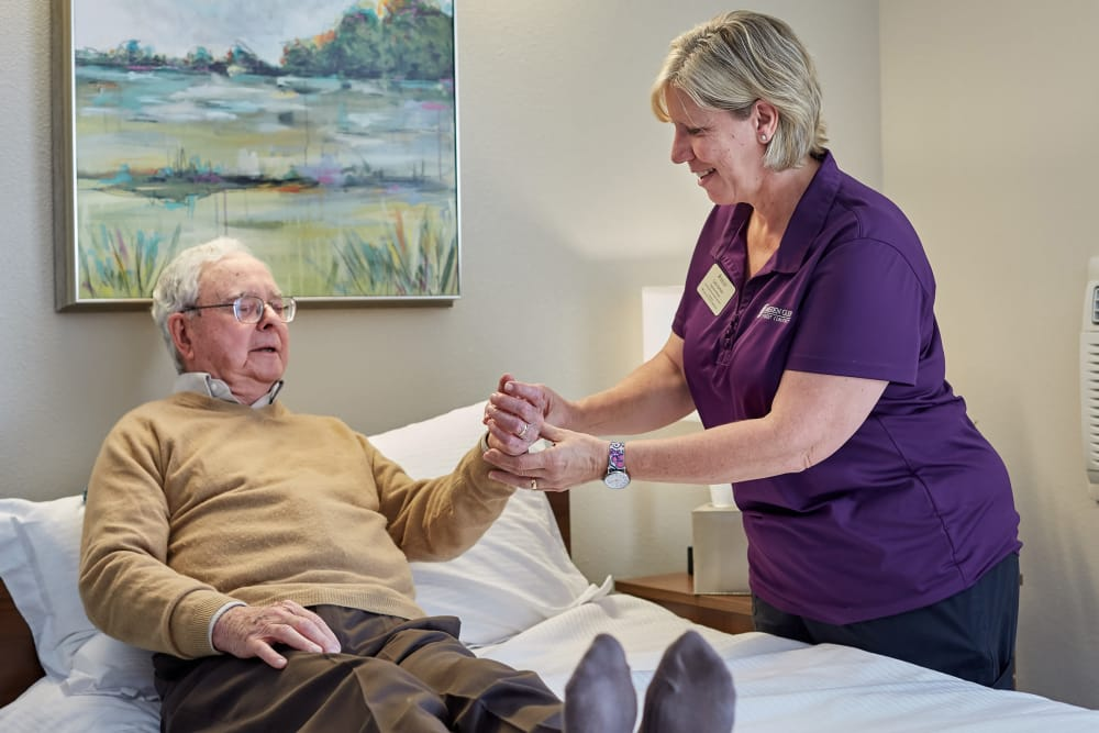 Short-term Rehabilitation guest and nurse