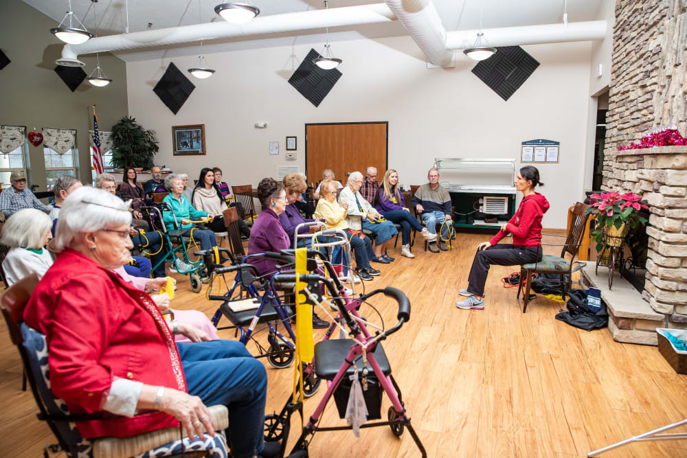 Class at Parker Place in Parkersburg, Iowa