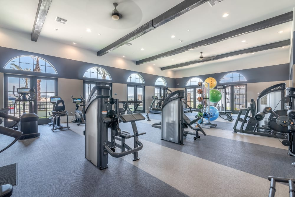 Fitness center at Montecito Apartments at Carlsbad in Carlsbad, California