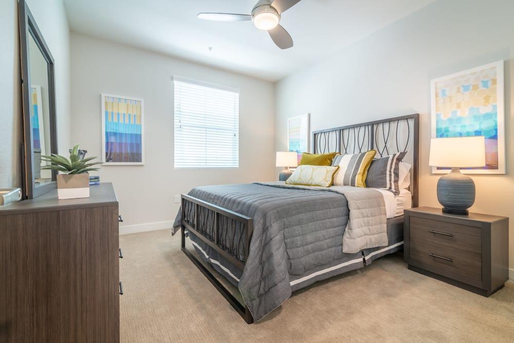 Spacious bedroom at Montecito Apartments at Carlsbad in Carlsbad, California