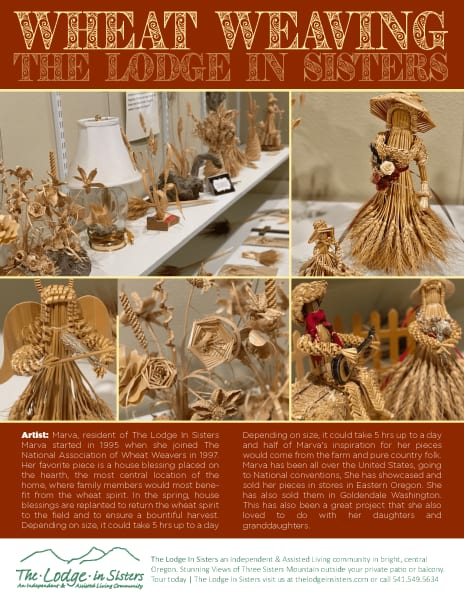 Article about Wheat Weaving at The Lodge in Sisters