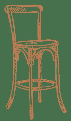 A chair logo from Artisan Living Bella Citta in Davenport, Florida