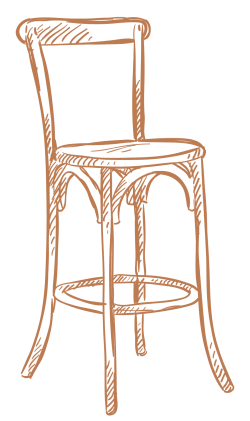 A chair logo from Artisan Living Bella Citta in Davenport, Florida