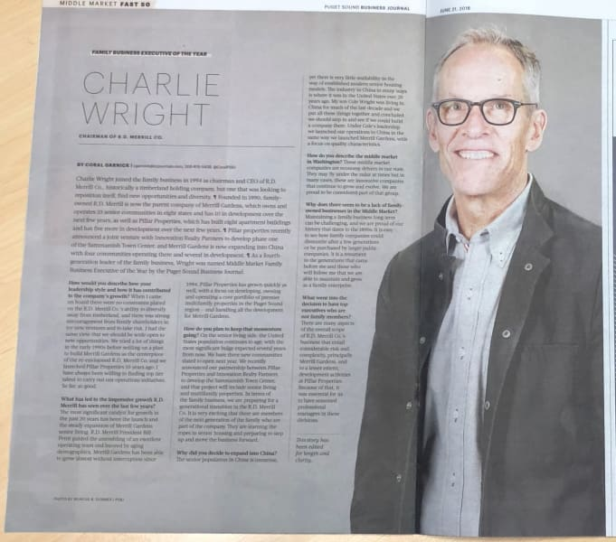 Charlie Wright honored as Family Business Executive of the Year 2019