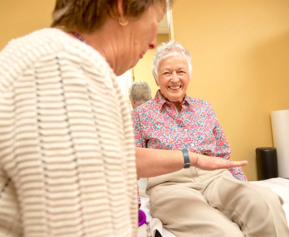 Residents receive physical therapy at Touchmark at Fairway Village in Vancouver, Washington