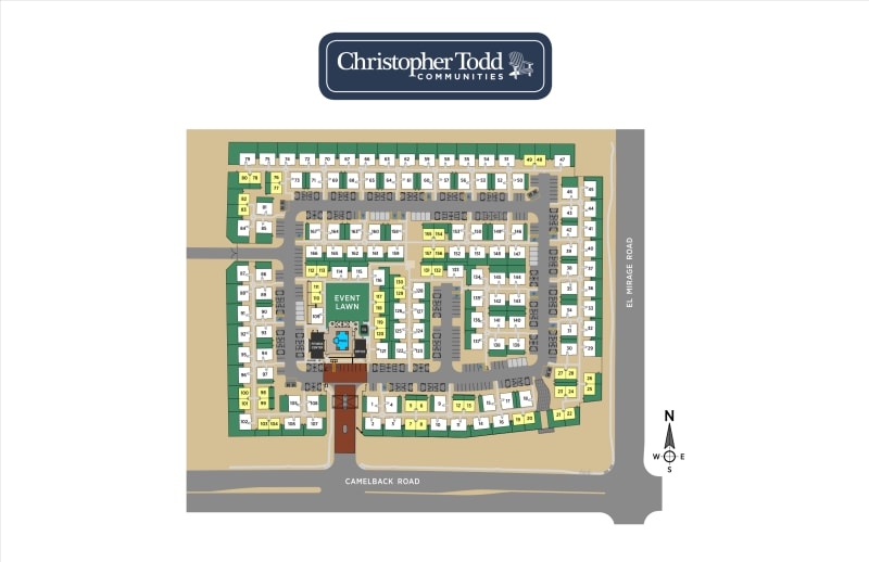 Site plan at Christopher Todd Communities On Camelback
