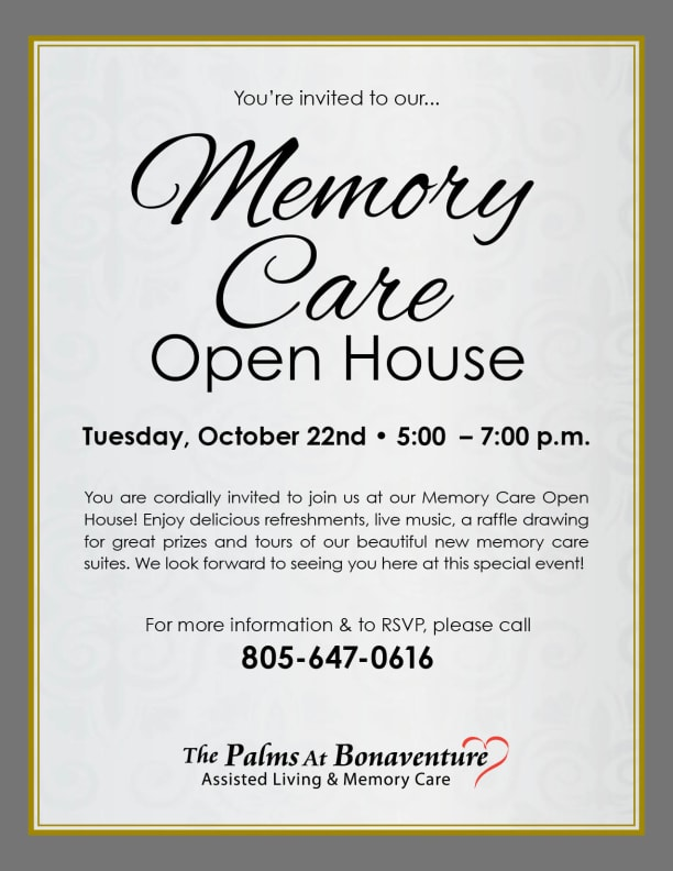 Open event at Palms at Bonaventure Assisted Living.