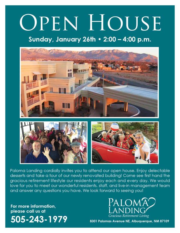 Open event at Paloma Landing Retirement Community.