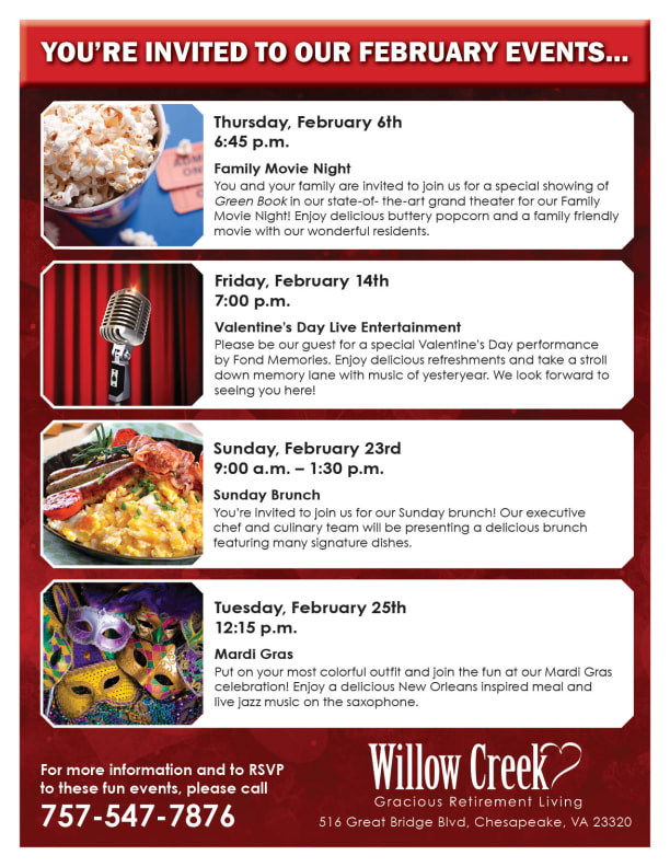 Open event at Willow Creek Gracious Retirement Living.