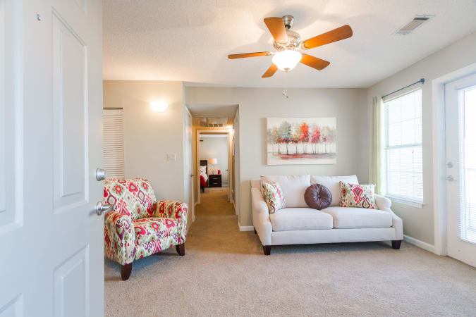 Living room area at Castlegate Commons Apartments in Bonaire