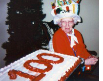 Catherine Zunzer turns 100 Years Old at The Manor at Market Square in Reading, Pennsylvania