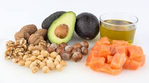 Healthy fats including: nuts, avocados, and olive oil.