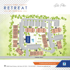 Site map of The Retreat at Chenal in Little Rock, Arkansas