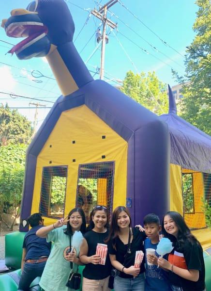 Bounce house at Fun Fair