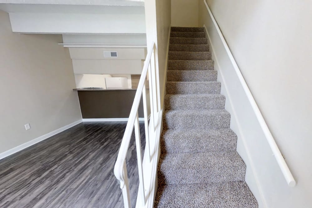 Stairs at Falls of Maplewood Apartments in Houston, Texas