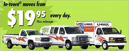 U-Haul truck rental information and pricing