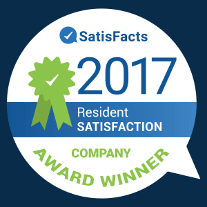 ComCapp in San Antonio, Texas was a Satisfacts Resident Satisfaction Company Award Winner in 2017