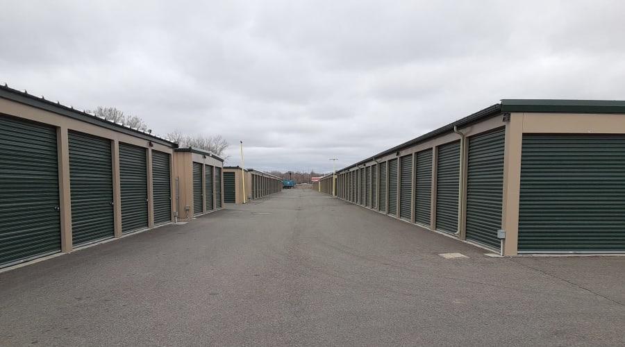 Exterior of outdoor units at KO Storage of Billings - North in Billings, Montana