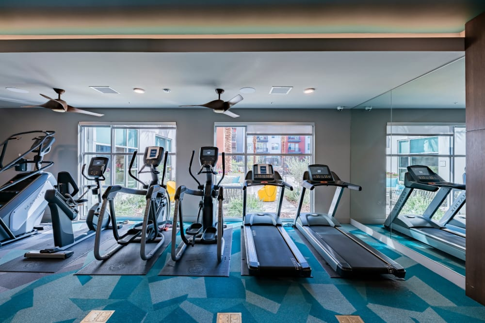 Fitness center for residents at The Tessera in Phoenix, Arizona