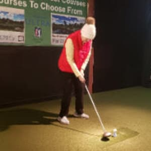 Resident Karen golfing for her Dare to Dream event near SunnyBrook Carroll in Carroll, Iowa.