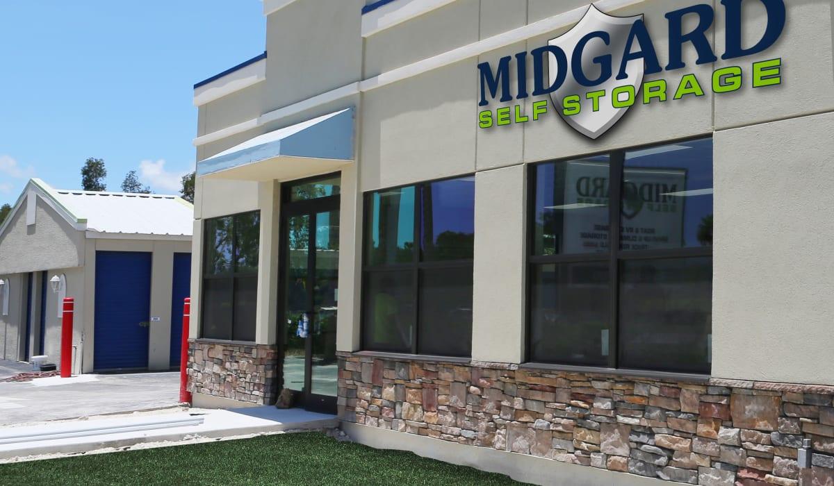 Front of Midgard Self Storage in Murfreesboro, Tennessee