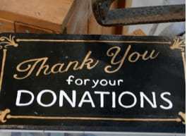 Thank you donations box
