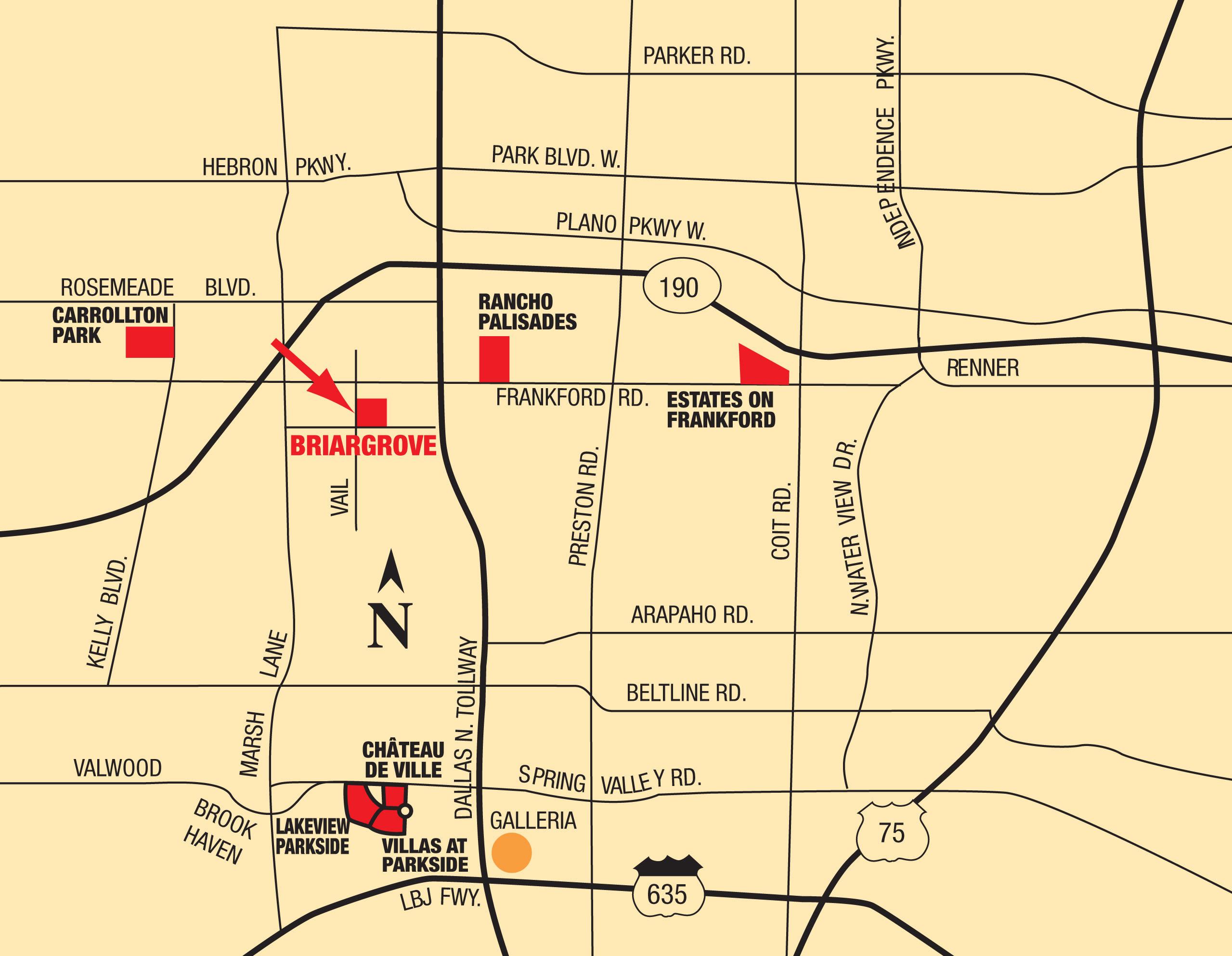 Map of Briargrove at Vail