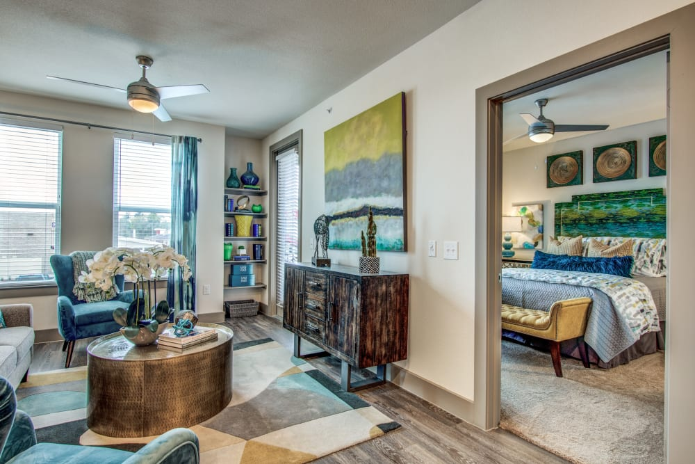 Open concept floor plan at Enclave at Woodland Lakes in Conroe, Texas