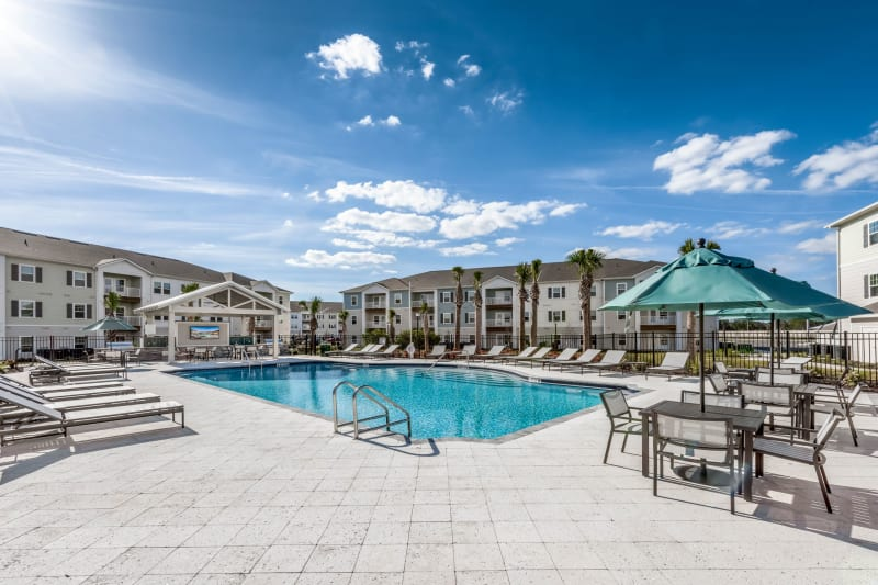 Outdoor pool at Argyle at Oakleaf Town Center in Jacksonville, Florida