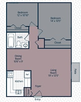 Printable floor plan 4 at Utica Square Apartments