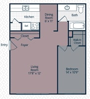 Printable floor plan 1 at Utica Square Apartments